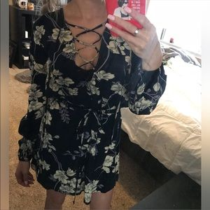 Stella laughna beach floral tie waist dress